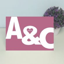 Personalised Initials Card – Ideal Valentine's Day, Wedding, Engagement or Anniversary Card